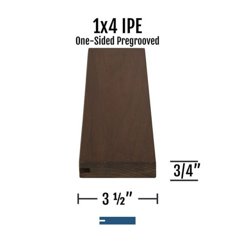 X Ipe One Sided Pregrooved