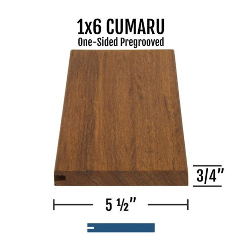 X Cumaru One Sided Pregrooved