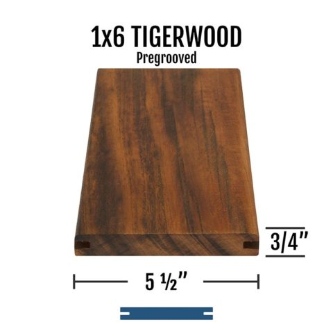 X Tigerwood Pregrooved
