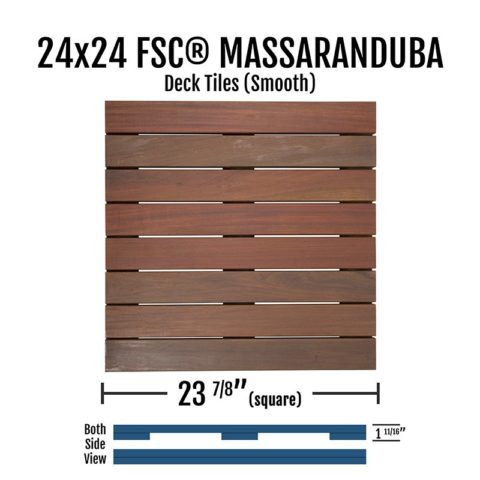 X Fsc® Massaranduba Smooth Deck Tiles