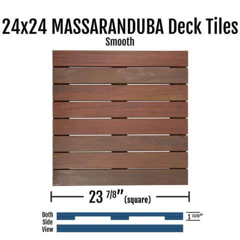 X Massaranduba Smooth Deck Tiles