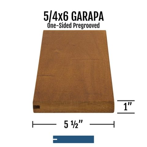 X Garapa One Sided Pregrooved
