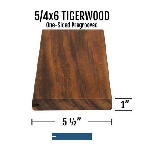 X Tigerwood One Sided Pregrooved