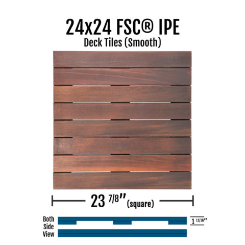 X Fsc Ipe Smooth Deck Tiles