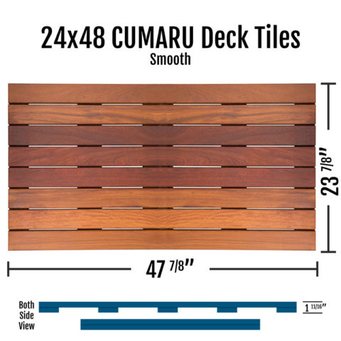 X Cumaru Smooth Deck Tiles