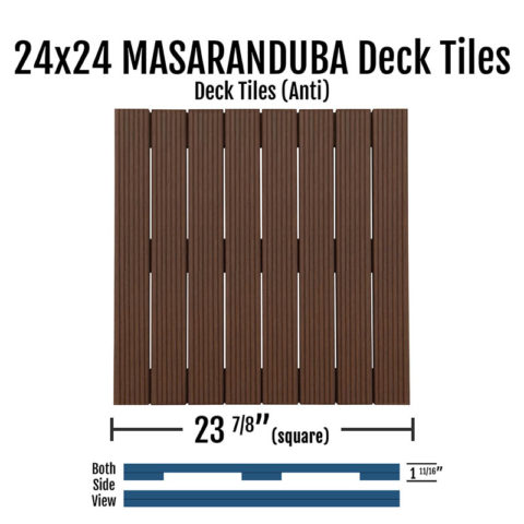 X Fsc® Anti Masaranduba Smooth Deck Tiles