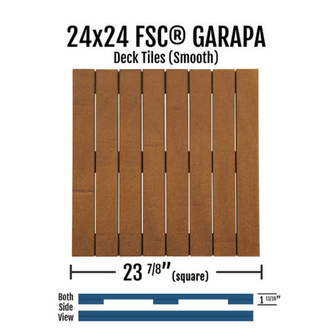 X Fsc® Garapa Smooth Deck Tiles